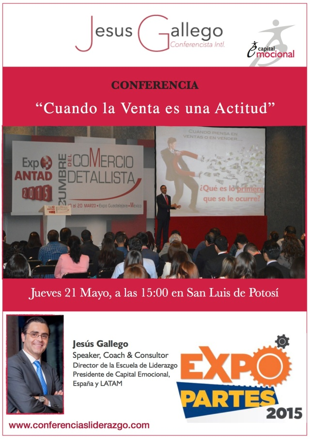 Conferencia CUANDO LA VENTA ES UNA ACTITUD - EXPO PARTES 2015
