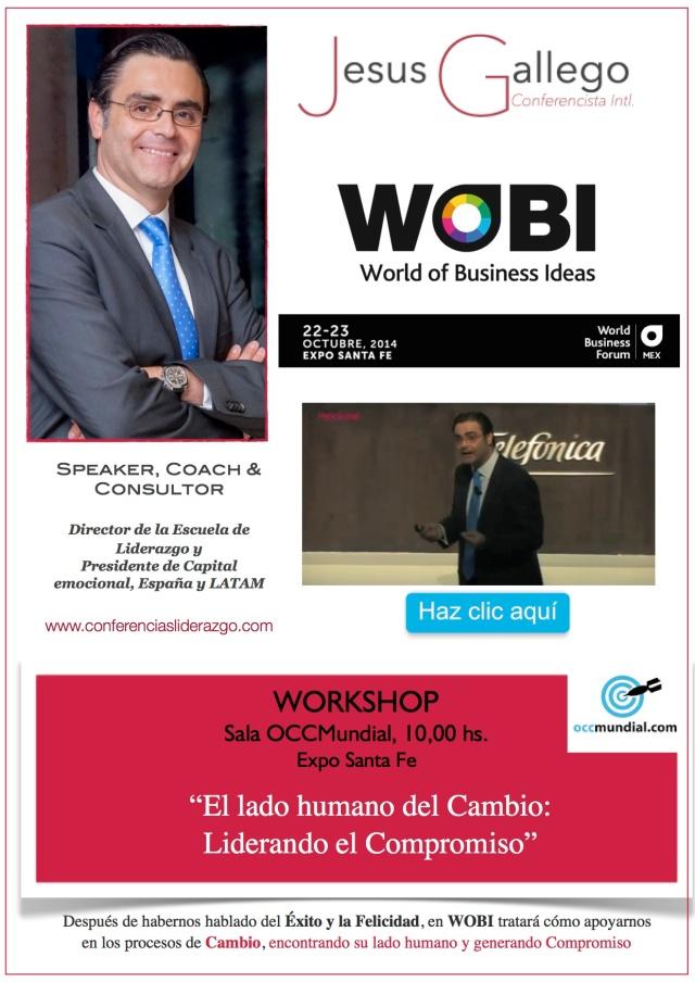 Jesús Gallego Conferencista Internacional, en WOBI México